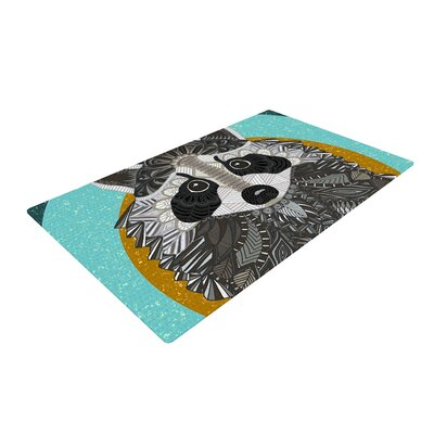Art Love Passion Racoon Rug Size: 2 x 3