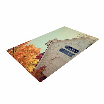 Angie Turner Fall Barn Top Photgraphy Orange Area Rug
