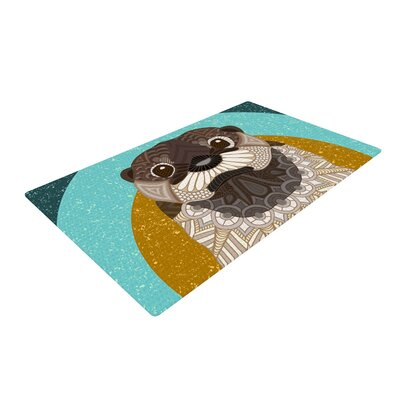 Art Love Passion Otter Blue/Brown Area Rug Rug Size: 2 x 3