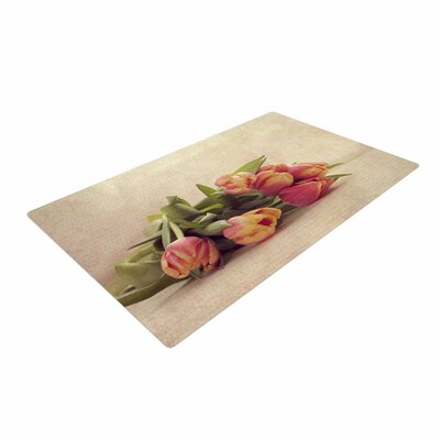 Angie Turner Delicate Spring Photography Yellow Area Rug