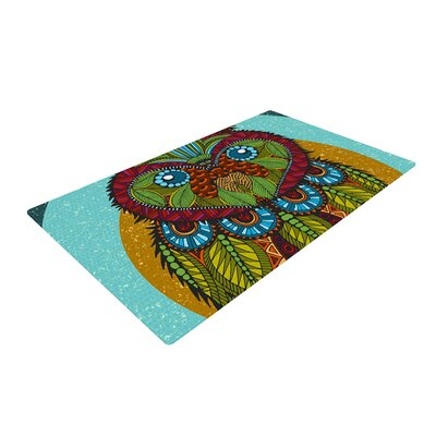 Art Love Passion Owl Area Rug Rug Size: 2 x 3