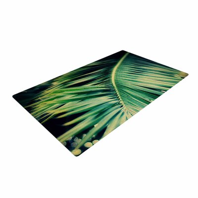 Angie Turner Palm Frond Green/Nature Area Rug