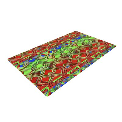 Anne LaBrie Mystic Flow Green/Red Area Rug Rug Size: 4 x 6