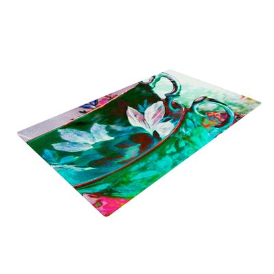 alyZen Moonshadow Mad Hatters T Party IV Green/Pink Area Rug