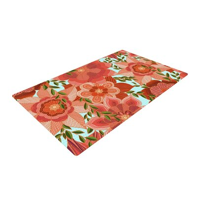 Art Love Passion Flower Power Red/Floral Area Rug Rug Size: 4 x 6