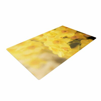 Angie Turner Dreamy Daffodils Yellow/Nature Area Rug