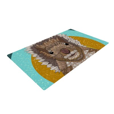 Art Love Passion Squirrel Teal/Brown Area Rug Rug Size: 2 x 3