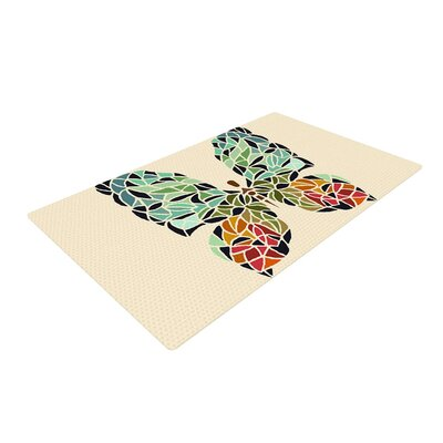 Art Love Passion Butterfly Area Rug Rug Size: 2 x 3