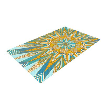Art Love Passion Here Comes the Sun Blue/Yellow Area Rug Rug Size: 2 x 3