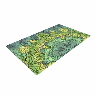 Art Love Passion Fairy Mandala Green/Yellow Area Rug Rug Size: 2 x 3