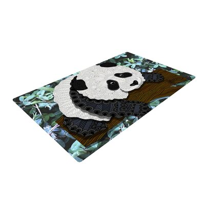 Art Love Passion Panda Black/White Area Rug Rug Size: 2 x 3