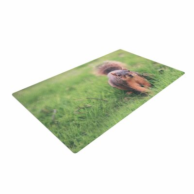 Angie Turner Squirrel Animals Brown Area Rug