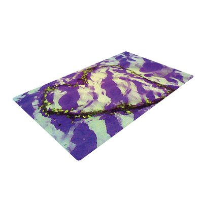 Anne LaBrie Purple Tiger Love Purple/Yellow Area Rug