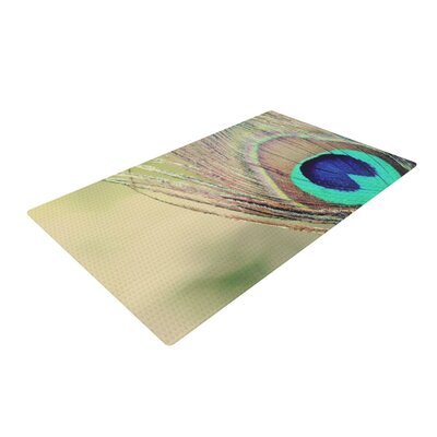 Beth Engel Sun Kissed Peacock Feather Blue/Brown Area Rug