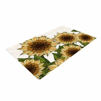 Art Love Passion Sunflower Field Beige/Yellow Area Rug