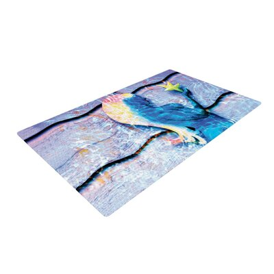 Anne LaBrie Mermaid Starlight Aqua/Blue Area Rug Rug Size: 4 x 6