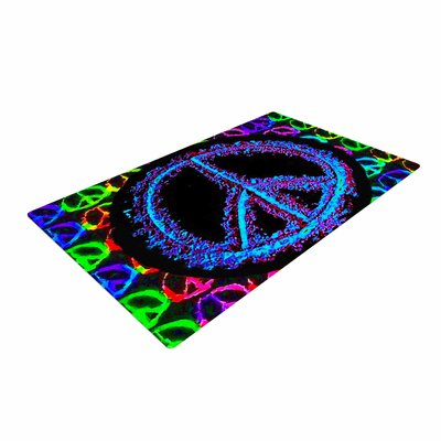 Anne LaBrie Heavenly Peace Digital Blue Area Rug