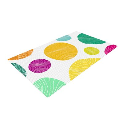 Anchobee Eolo Circles Yellow/Green Area Rug Rug Size: 2 x 3