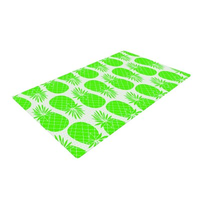 Anchobee Pinya Lime Pattern Neon Green Area Rug