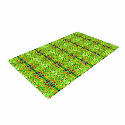 Bruce Stanfield Rage Against the Machine Pattern Green Area Rug
