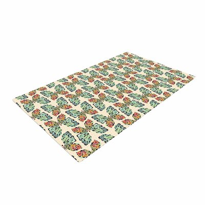 Art Love Passion Little Butterflies Orange/Yellow Area Rug