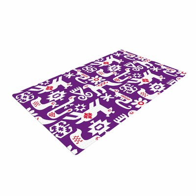 Agnes Schugardt the Tribe Purple Area Rug Rug Size: 2 x 3