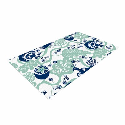 Agnes Schugardt Folk Birds Vector White Area Rug Rug Size: 4 x 6