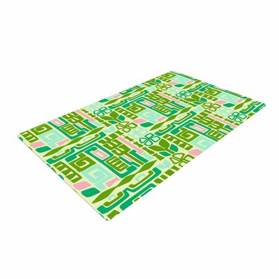 Amy Reber Maze Vector Green Area Rug