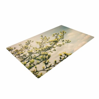 Angie Turner Yellow Magnolias Photography Blue Area Rug