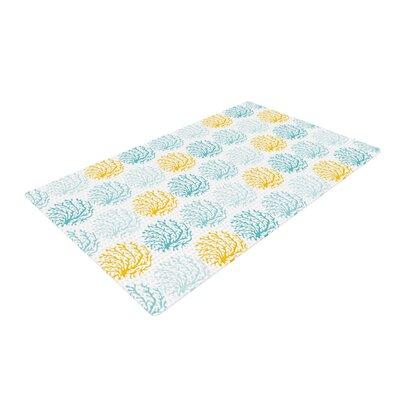 Anchobee Coralina Teal/Yellow Area Rug Rug Size: 2 x 3