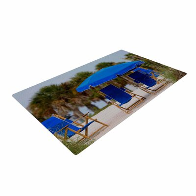 Angie Turner Ready to Relax Digital Photography Dark Blue/Sand Area Rug