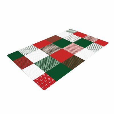 Carolyn Greifeld Holiday Patchwork Red/Green Area Rug