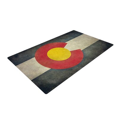 Bruce Stanfield State Flag of Colorado Black/Red Area Rug