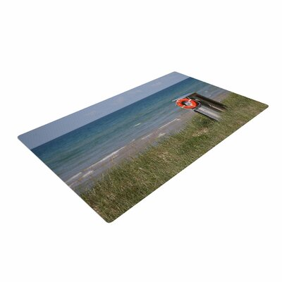 Angie Turner Life Saver Blue/Green Area Rug