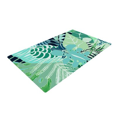 Anchobee Giungla Floral Green Area Rug Rug Size: 4 x 6
