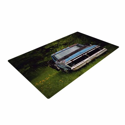 Angie Turner Old Ford Truck Digital Blue Area Rug