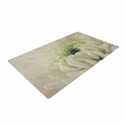 Angie Turner Pure Petals Floral White Area Rug