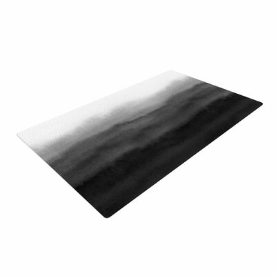 Draper Ombre Ink Wash Gray/Black Area Rug Rug Size: 4 x 6