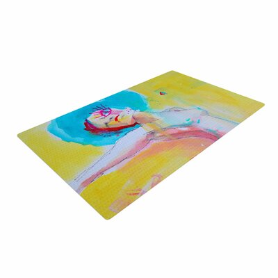 Cecibd Circus Illustration Red Area Rug Rug Size: 4 x 6