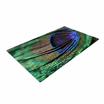 Angie Turner Peacock Feather Green/Blue Area Rug