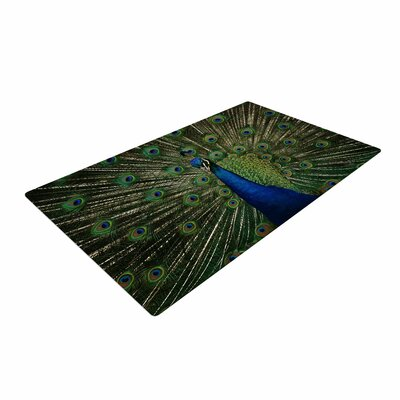 Angie Turner Proud Peacock Animals Blue Area Rug
