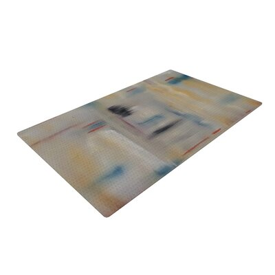 Cathy Rodgers Library Painting Abstract Gray Area Rug