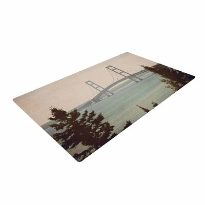 Angie Turner Mackinac Bridge Travel Beige Area Rug Rug Size: 4 x 6