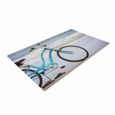 Angie Turner Beach Bike Blue/Gray Area Rug