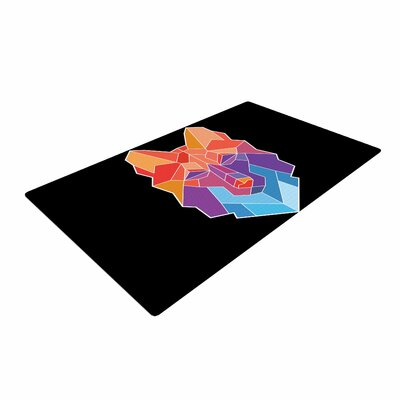 Draper Prism Wolf Orange/Purple Area Rug