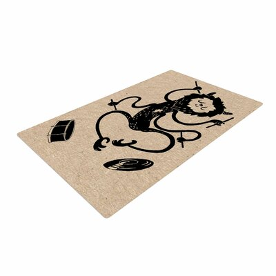 Anya Volk Music Monster Fantasy Brown Area Rug Rug Size: 4 x 6