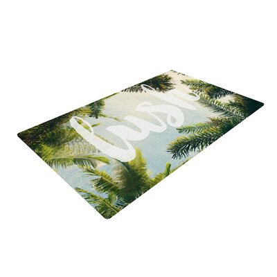 Catherine McDonald Lush Typography Nature Area Rug Rug Size: 4 x 6