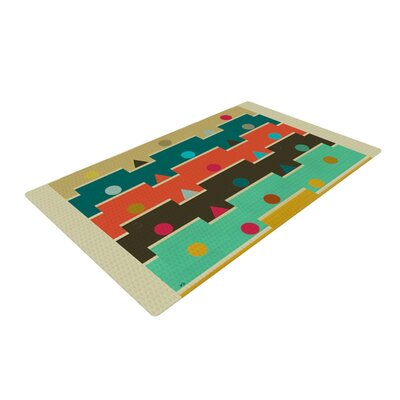 Bri Buckley Modern Graphics Geometry Multicolor Area Rug