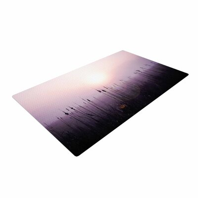 Angie Turner Sunrise Cattails Purple/Gold Area Rug