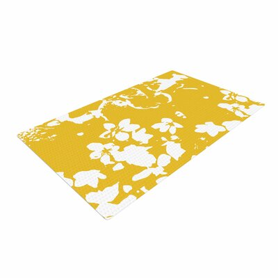 Love Midge Helena Floral Yellow Golden/White Area Rug